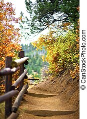 Mountain Trail. Manitou Springs, Colorado USA. Fall in...
