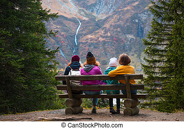 family in the mountains