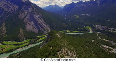 Mountain tunnel panoramic