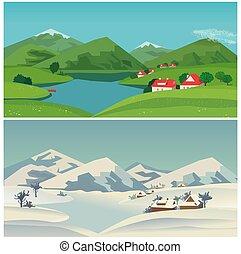 Mountain valley landscape