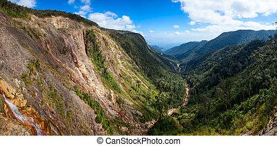 Mountain valley panorama