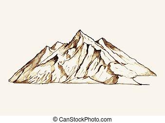 Mountain - Sketch illustration of a mountain