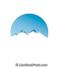 Mountain vector icon isolated on white background