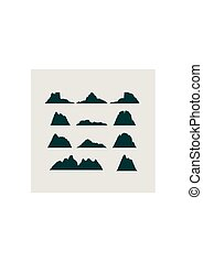 Mountain vector icons set. Mountains landscape