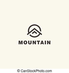 Mountain. Vector logo template