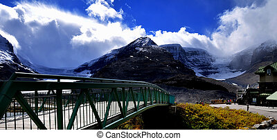 mountain view athabasca glaciers