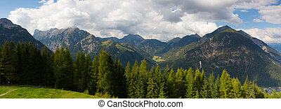Mountain view from the top - Alpbach valley, Austria