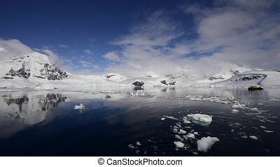 Mountain view in Antarctica
