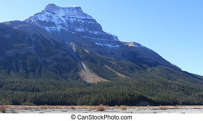 Mountain view in Banff National Park in Alberta - A Mountain...
