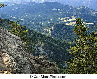 Mountain View in Colorado USA - Scenic view of the foothills...