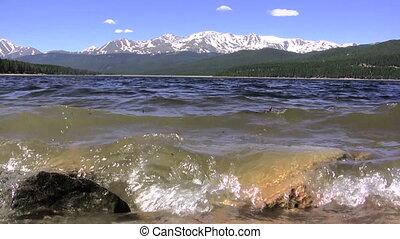 Mountain View of Alpine Lake