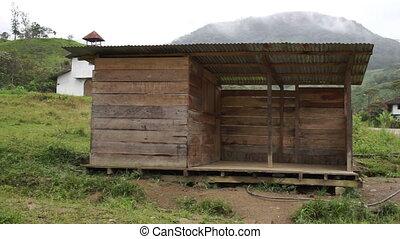 Mountain Village Abandoned Playgrou - Location establishing...