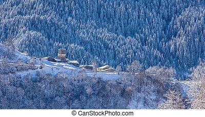 Mountain village in Georgia