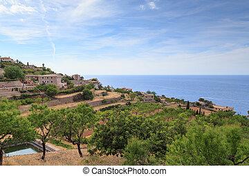 Mountain village in Mallorca, Spain