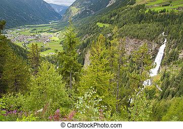 Mountain village in Otztal, Tirol, Austria
