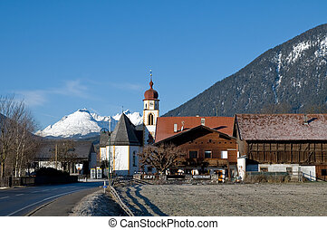 Mountain village in the Alps