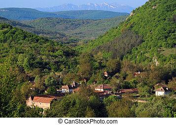 Mountain Village in the Springtime