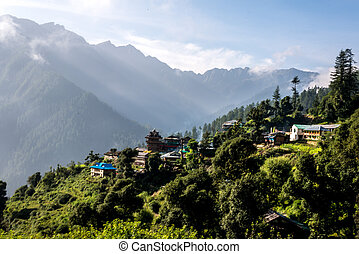 Mountain Village on a Sunny day