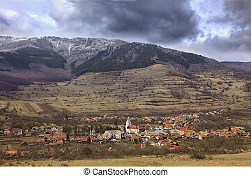 Mountain village - Romanian village in a mountainous region...