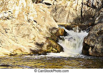 mountain water stream detail