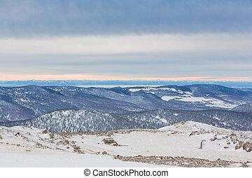 Mountain winter landscape.