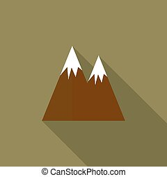 Mountain  with a long shadow