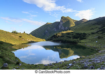 Mountain with reflection in lake
