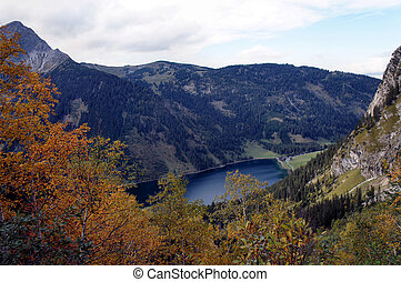 Mountain world in autumn in Tyrol, Austria