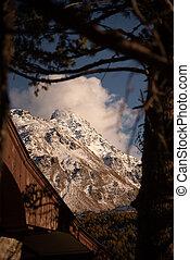 Mountain world of Switzerland in autumn - beautiful colors