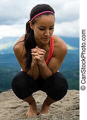 Mountain Yoga - Women Pose 5