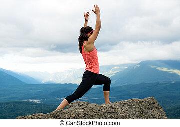 Mountain Yoga - Women Pose 6