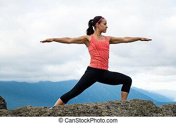 Mountain Yoga - Women Pose 7