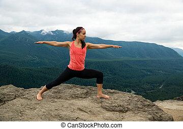 Mountain Yoga - Women Pose 8