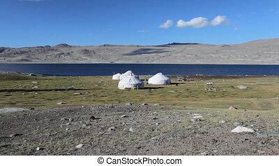 Mountain yurt at Khoton Nuur lake