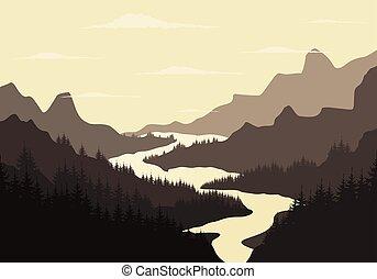mountain2, 河