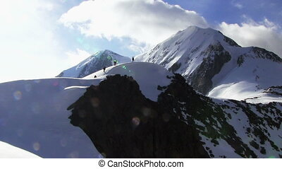 Mountaineer In The High Mountains - Mountaineer in the high...