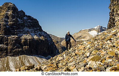Mountaineer in the Mountains