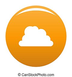 Mountainous cloud icon orange