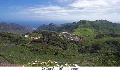 Mountainous landscape from Jardina viewpoint in Anaga...