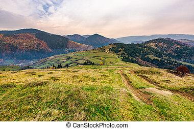 mountainous landscape of Mizhhirya district. lovely...