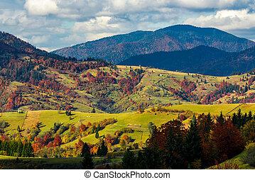 mountainous rural area in late autumn - mountain rural area...