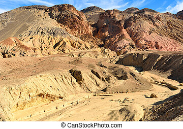 Mountainous scenery along Artists Drive road in the Death Valley National Park