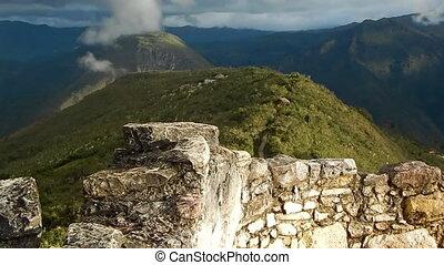 Mountainous terrain and hills in Peru - Shot of large,...