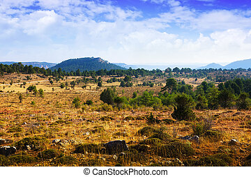 Mountainous terrain in the province of Cuenca