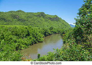 Mountain&River kwai-noi at kanchana.thai people call amazon...