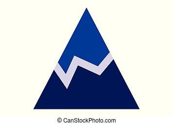 mountains abstract logo vector