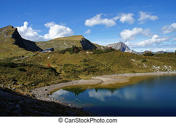 Mountains and lake in Tyrol