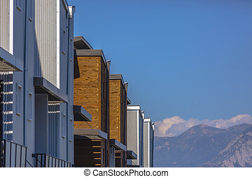Mountains and townhomes in Daybreak Utah - Beautiful homes...