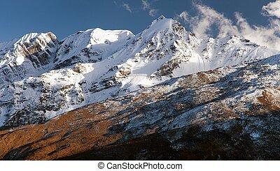 Mountains around Jang La pass, Great Himalayan range,...
