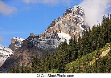 Mountains around Lake O'Hara, Yoho National Park, Canada